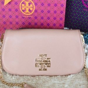 Tory Burch  Britten Leather Crossbody